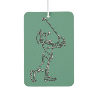 Golf Player outline design ~ editable background Car Air Freshener