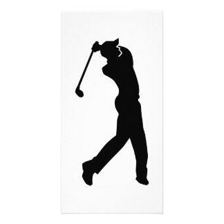 Golf Player Picture Card