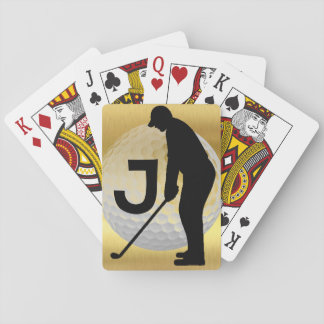Golf Player Playing Cards
