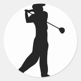 golf player round sticker