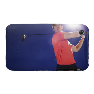 Golf player swinging club iPhone 3 cover