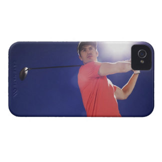 Golf player swinging club iPhone 4 case