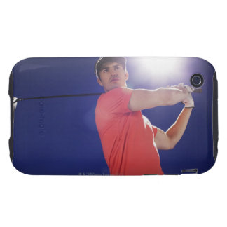 Golf player swinging club tough iPhone 3 case