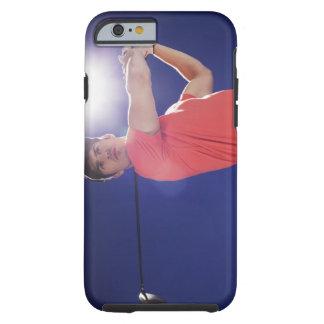 Golf player swinging club tough iPhone 6 case