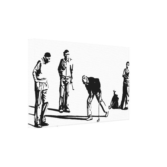 Golf Players Canvas Print