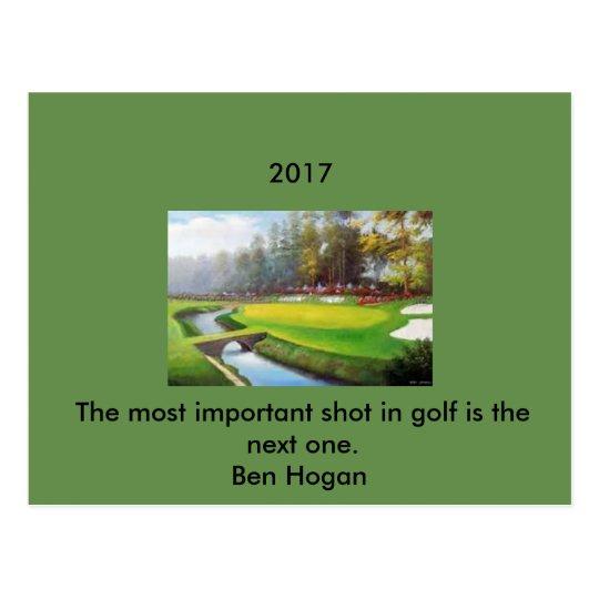 Golf Postcard with a Ben Hogan quote