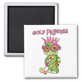 Golf Princess T-shirts and Gifts Square Magnet