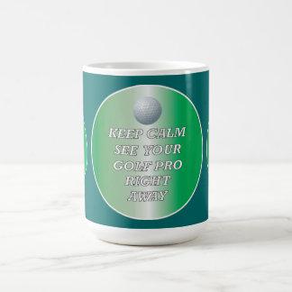 Golf Pro Keep Calm Mug
