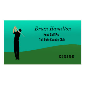 Golf Pro Pack Of Standard Business Cards