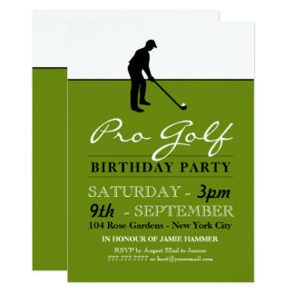 Golf Professional Birthday Party Card