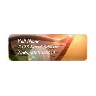 Golf Puter Mailing Label Return Address Label