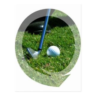 Golf Putt Postcard