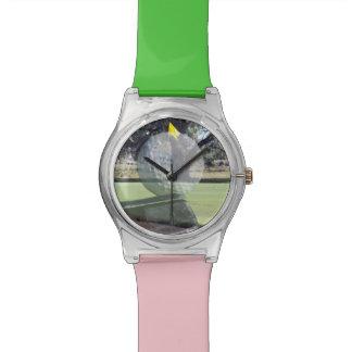 Golf_Putter_Ball_Shot_Ladies_Green_Pink_Golf_Watch Watches