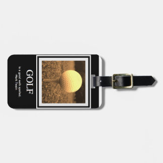 Golf Quote Luggage Tag