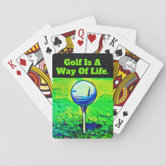 Golf Quote Playing Cards