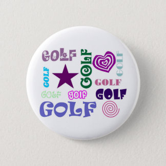 Golf Repeating 6 Cm Round Badge