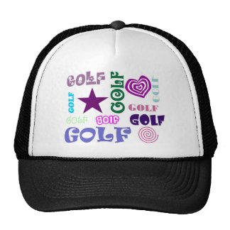 Golf Repeating Mesh Hats