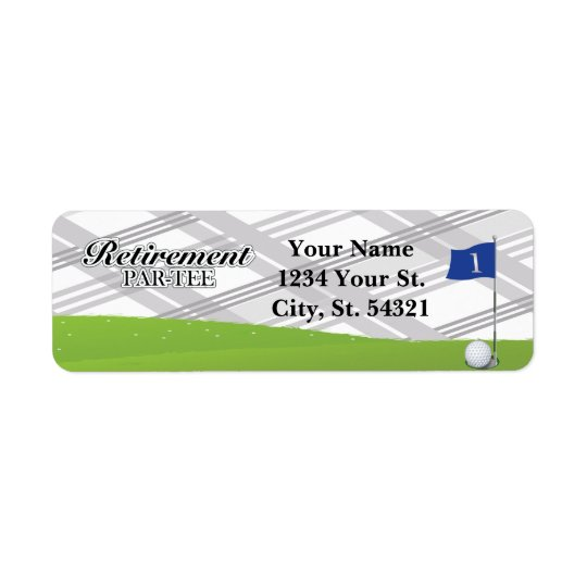 Golf Retirement Address Labels