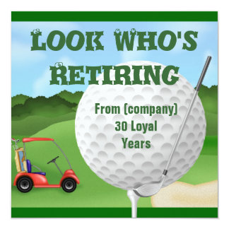 Golf  Retirement Invitations TEMPLATE