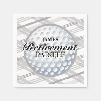 Golf Retirement Party, Custom Napkins Disposable Napkin