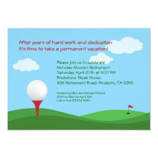 "Golf Retirement Party Invitation 5"" X 7"" Invitation Card"