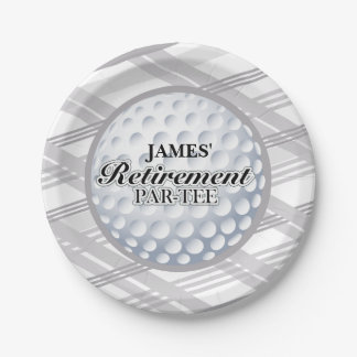 Golf Retirement Party Plates
