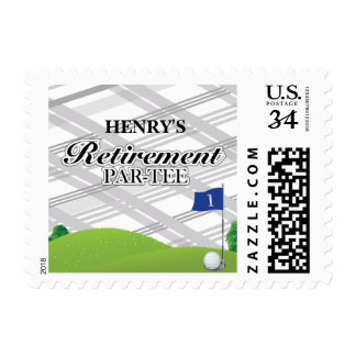 Golf Retirement Party Postage Stamps