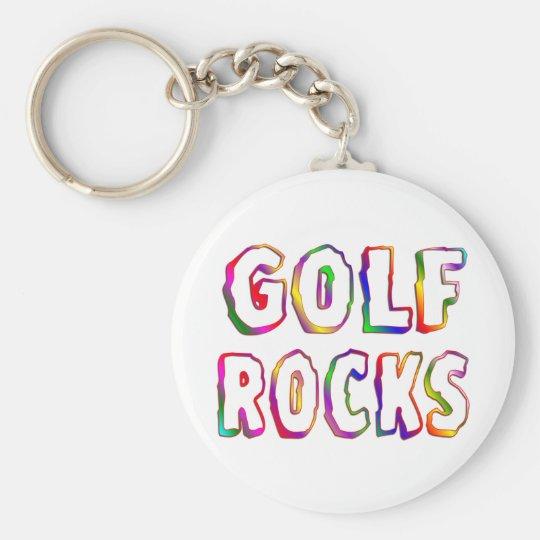 Golf Rocks Key Ring