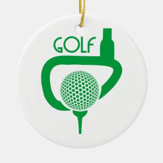 Golf Round Ceramic Decoration