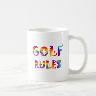 Golf Rules Basic White Mug