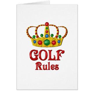 GOLF RULES GREETING CARD