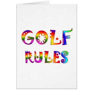 Golf Rules Greeting Card