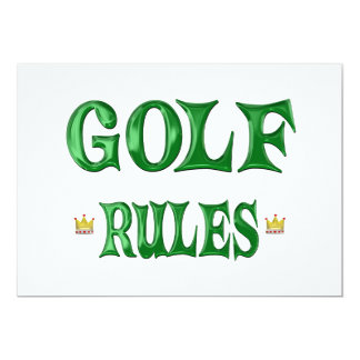 Golf Rules 13 Cm X 18 Cm Invitation Card