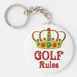 GOLF RULES BASIC ROUND BUTTON KEY RING