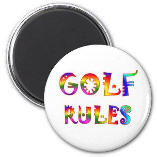 Golf Rules 6 Cm Round Magnet