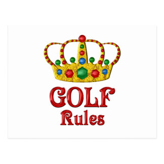 GOLF RULES POSTCARD