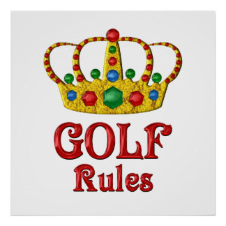 GOLF RULES POSTER
