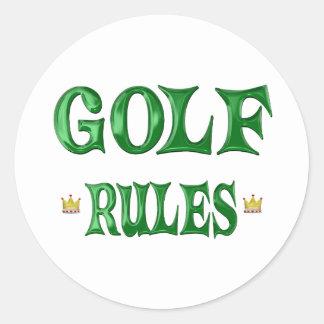 Golf Rules Round Sticker