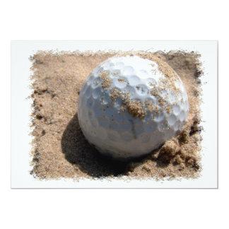 Golf Sand Pit Design Invitation