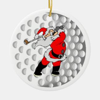Golf Santa Sports Christmas Ornament