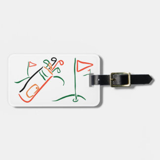 Golf Scene Luggage Tag