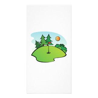 Golf Scene Picture Card