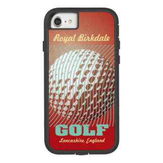 Golf series 1 aqua on red Case-Mate tough extreme iPhone 8/7 case