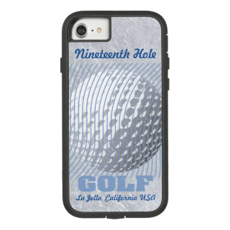 Golf series 1 blue on silver tone Case-Mate tough extreme iPhone 8/7 case