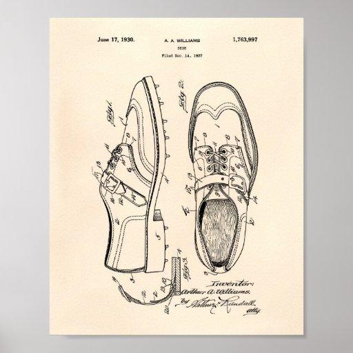 Golf Shoe 1927 Patent Art - Old Peper