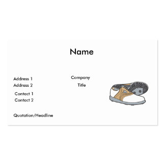 golf shoes pack of standard business cards