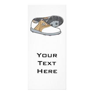 golf shoes rack card design