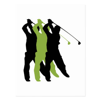 Golf Silhouette Post Card