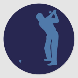Golf Silhouette Stickers Stickers