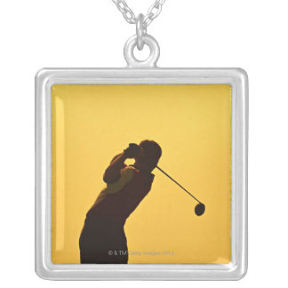 Golf Silver Plated Necklace